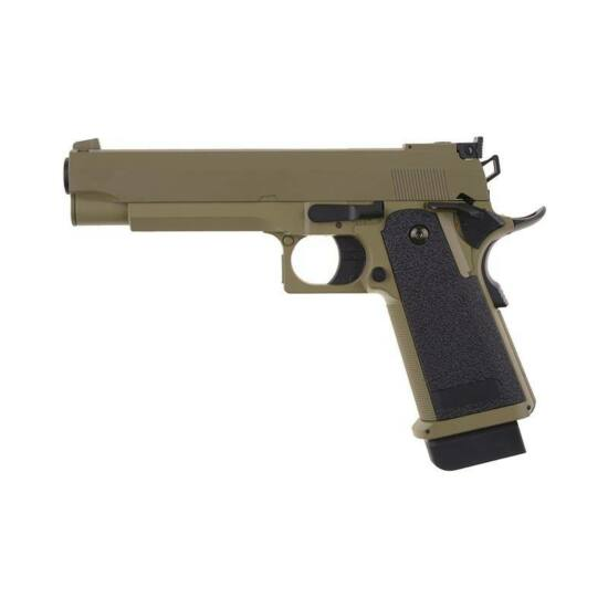CM128 Colt 45 elektromos pisztoly, tan