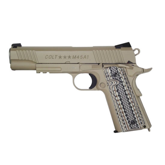 Colt M45A1 CO2 airsoft pisztoly, tan