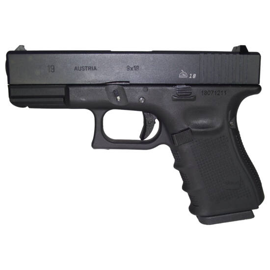 WE Glock 19 Gen. 4. GBB airsoft pisztoly Fekete
