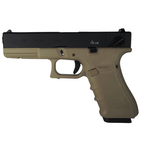 WE Glock 18C Gen 4. GBB airsoft pisztoly tan