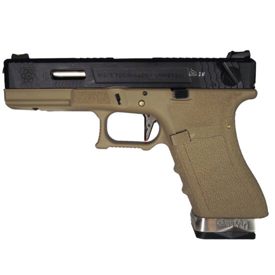 WE Glock 18C Limited Gen 4. GBB airsoft pisztoly tan