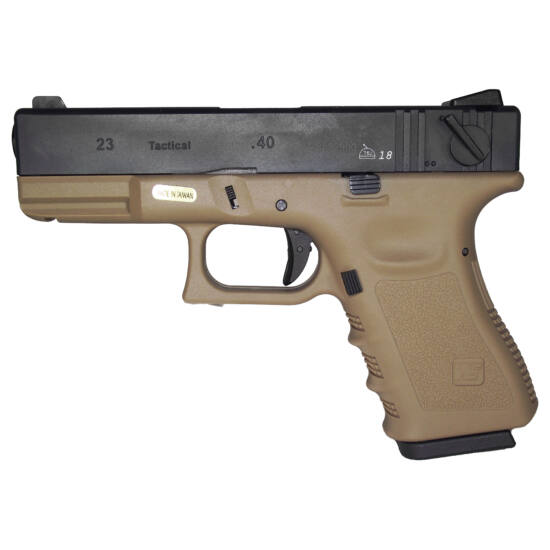 WE Glock23 GBB airsoft pisztoly gen 3, Tan