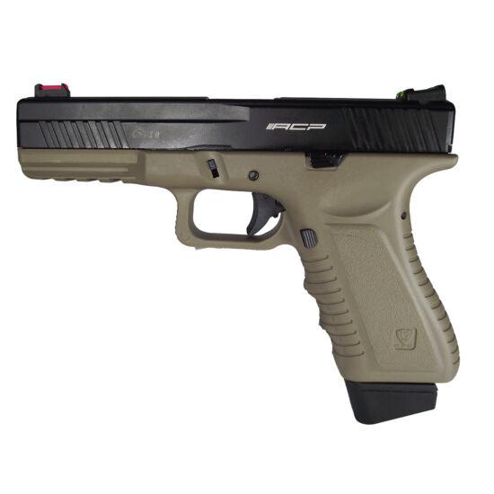 APS Glock ACP GBB airsoft pisztoly Half-tan