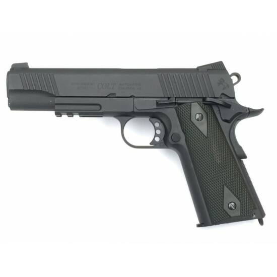 Colt 1911 Rail gun, CO2, Matt fekete GBB