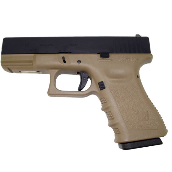 WE Glock 19 Gen. 3. GBB airsoft pisztoly Tan