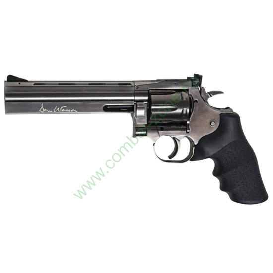 "Dan Wesson 715 6"" airsoft revolver, steel grey"