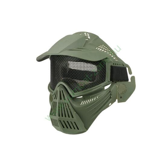 Guardian V1 arcvédő maszk árnyékolóval, oliva
