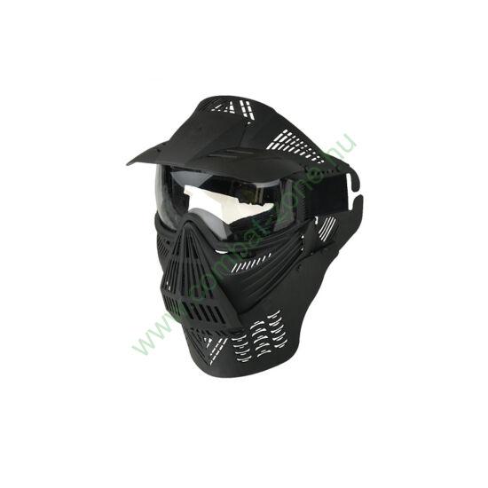 Guardian V4 arcvédő maszk árnyékolóval, fekete