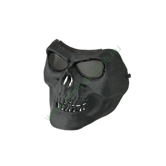 Védőmaszk, koponya, fekete