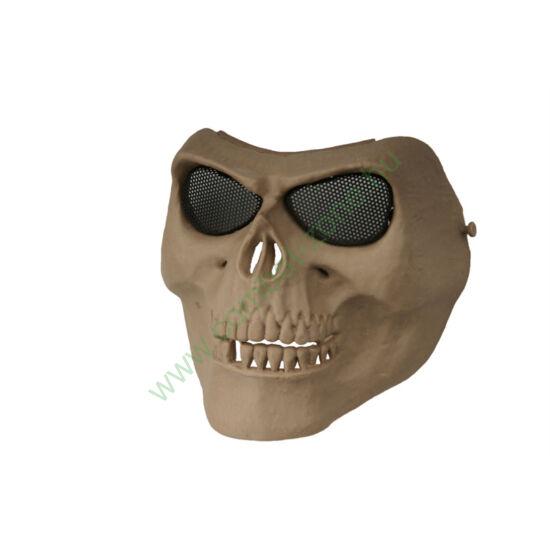 Védőmaszk, koponya, tan