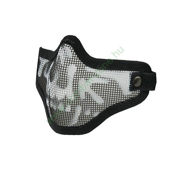Ventus V2 arcvédő félmaszk, rácsos, koponyás