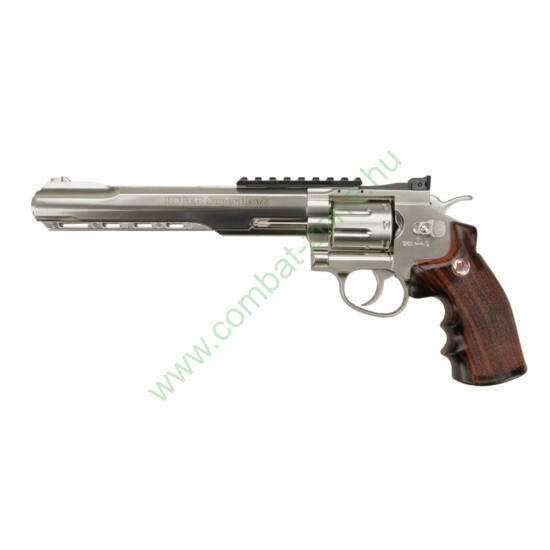 """Ruger Superhawk airsoft revolver, 8""""-os csővel, nikkel"""