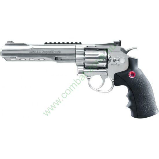 """Ruger Superhawk airsoft revolver, 6""""-os csővel, nikkel"""