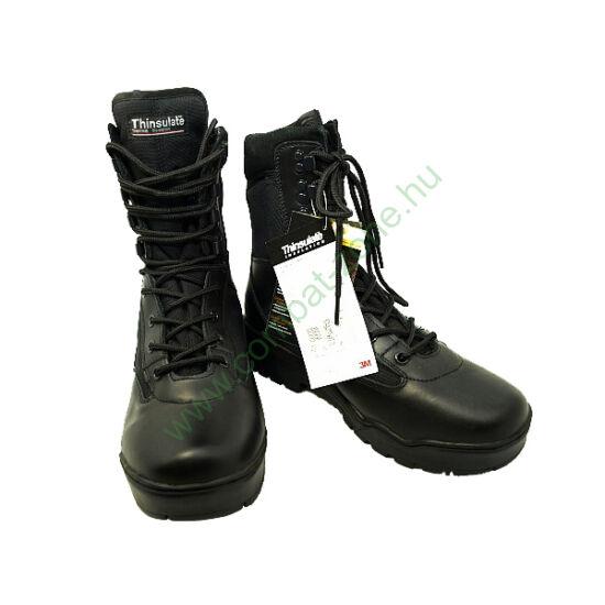 Miltec Tactical Stiefel bőr bakancs, fekete