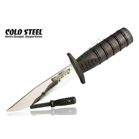 Cold Steel Survival Edge kés, fekete
