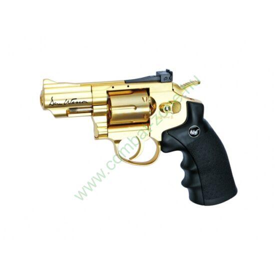 "Dan Wesson 2,5"" revolver, arany"