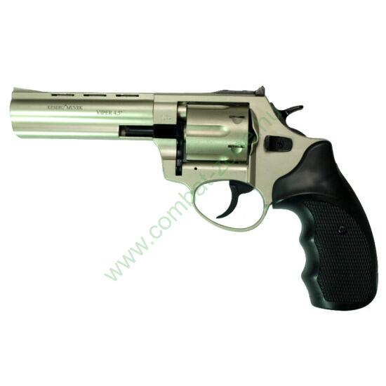 """Ekol Viper 4,5"""" gáz-riasztó pisztoly, nikkel"""