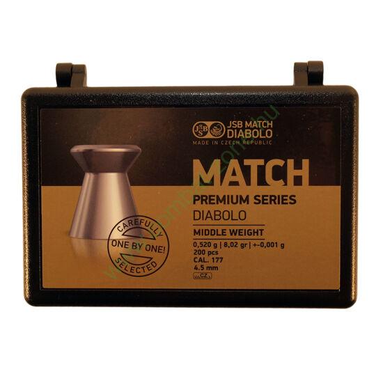 JSB Match Premium Middle cal. 4.51 mm (.177) lövedék