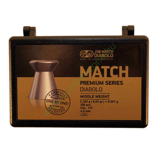 JSB Match Premium Middle cal. 4.50 mm (.177) lövedék