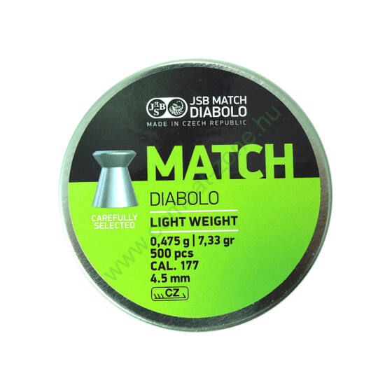 JSB Match Diabolo Light cal. 4.50 mm (.177) lövedék