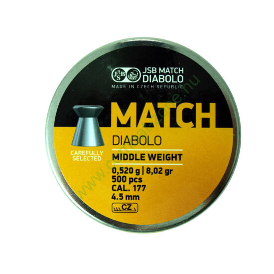 JSB Match Diabolo Middle cal. 4.50 mm (.177) lövedék