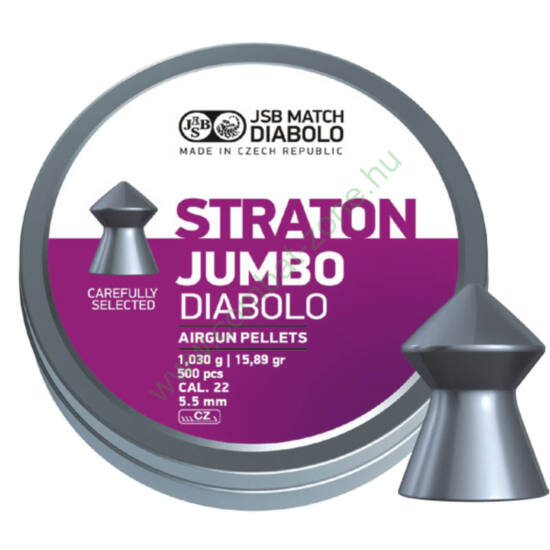 JSB Straton Jumbo cal. 5.50 (.22) lövedék, 250 db.