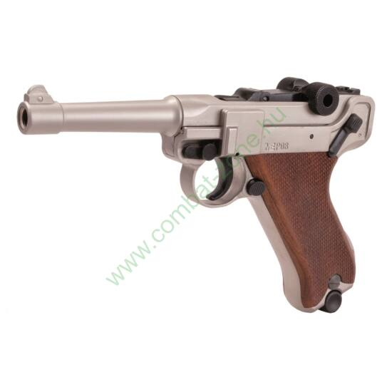 Luger P08 Parabellum gáz-riasztó pisztoly, nikkel