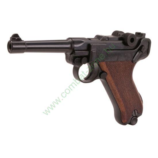 Luger P08 Parabellum gáz-riasztó pisztoly, fekete