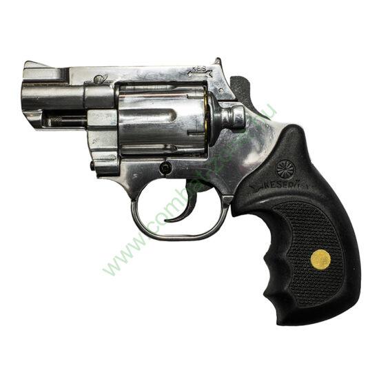 """Keserű Pitbull 2"""" gumis gáz-riasztó pisztoly, polírozott, alu dob"""