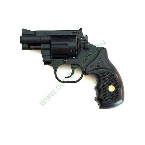 """Keserű Pitbull 2"""" gumis gáz-riasztó pisztoly, acél dob"""