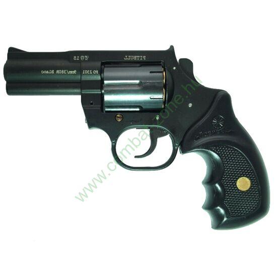 """Keserű Pitbull 3"""" gumis gáz-riasztó pisztoly, acél dob"""