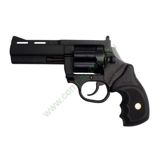 """Keserű Revenge gumis gáz-riasztó pisztoly, 4"""", acél dob"""