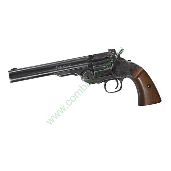 "Schofield 6"" revolver, fekete, antikolt"