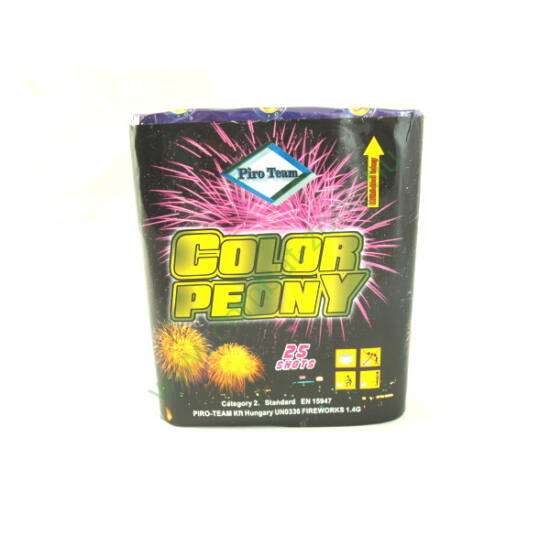 Color Peony, 25 lövéses telep