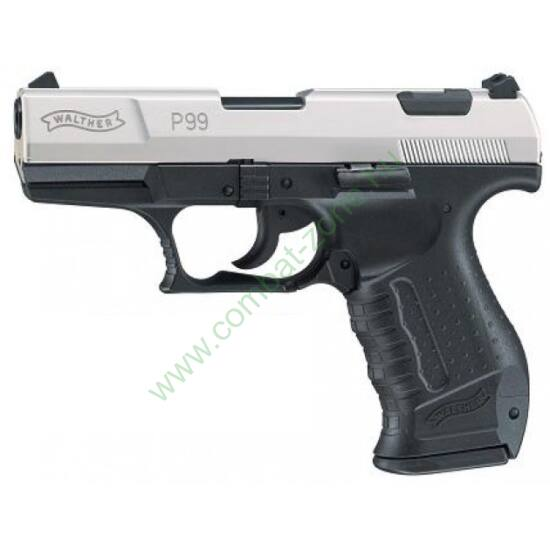 Walther P99 gáz-riasztó pisztoly, nikkel szánnal