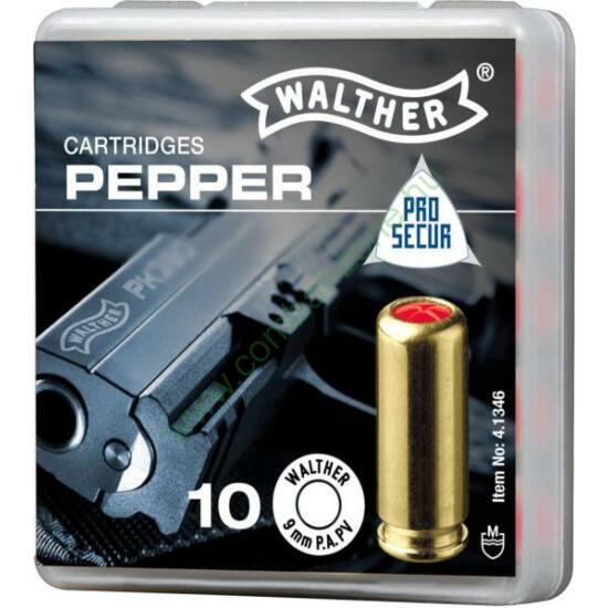 Walther 9 mm Pepper patron, PA