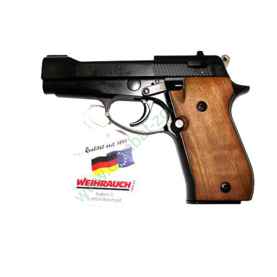 Weihrauch HW94 gáz-riasztó pisztoly, fekete, fa markolat