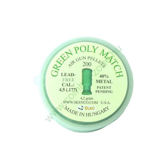 Green Poly Match cal. 4.5 (.177) lövedék