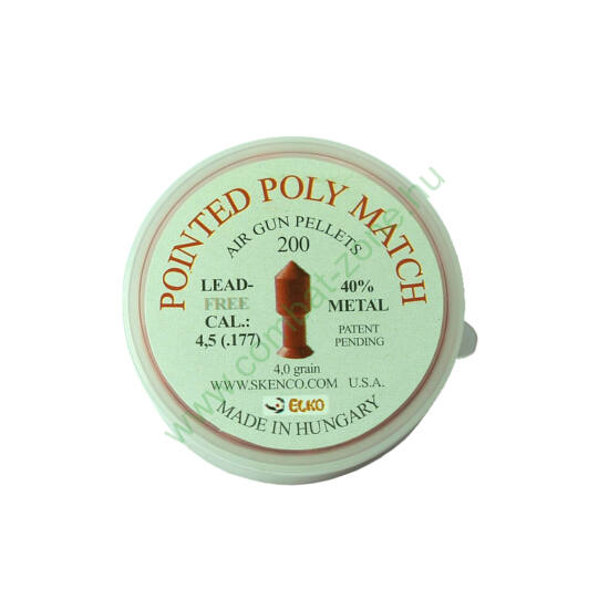 Pointed Poly Match cal. 4.5 (.177) lövedék