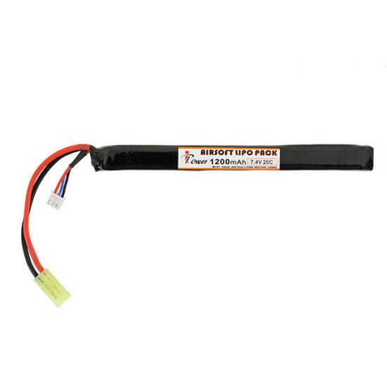 IPower airsoft akkumulátor, LiPo, 1200 mAh, 7,4V, 20C