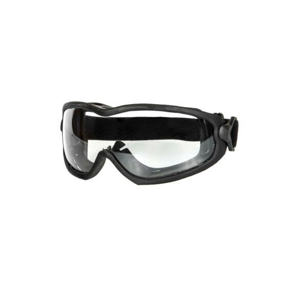 ANT tactical védőszemüveg, fekete, víztiszta lencse