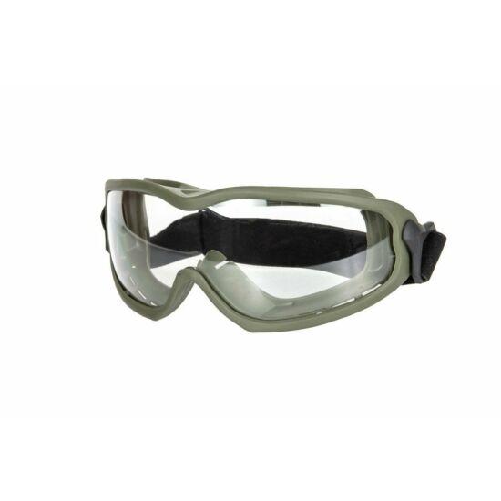 ANT tactical védőszemüveg, olív, víztiszta lencse