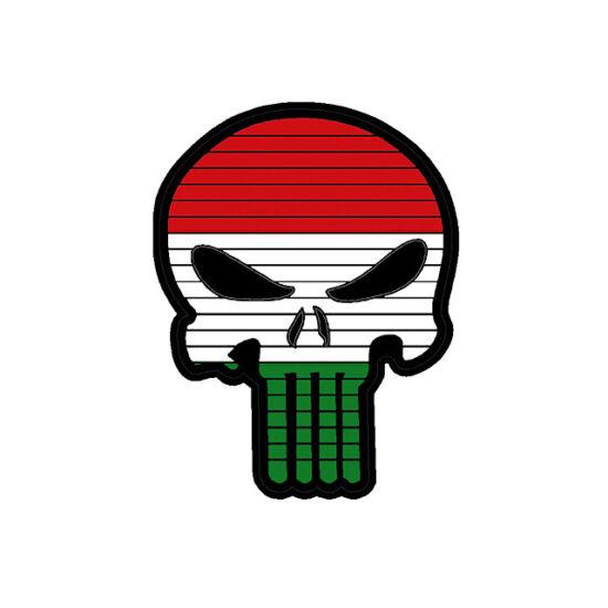 Flag Skull HUN felvarró