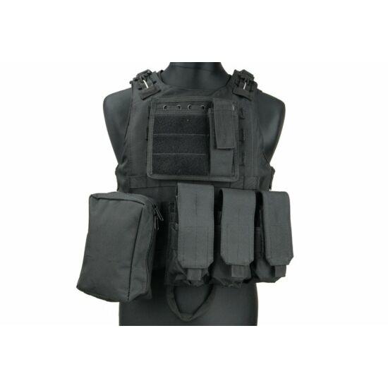 Taktikai mellény, AAV FSBE, fekete