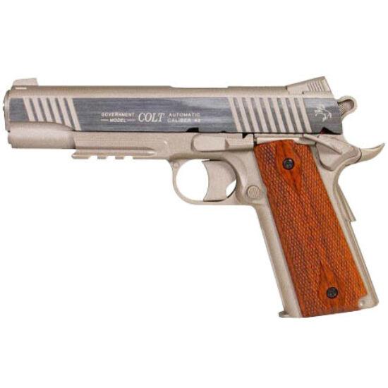 Colt 1911 Rail gun, CO2 Stainless NBB