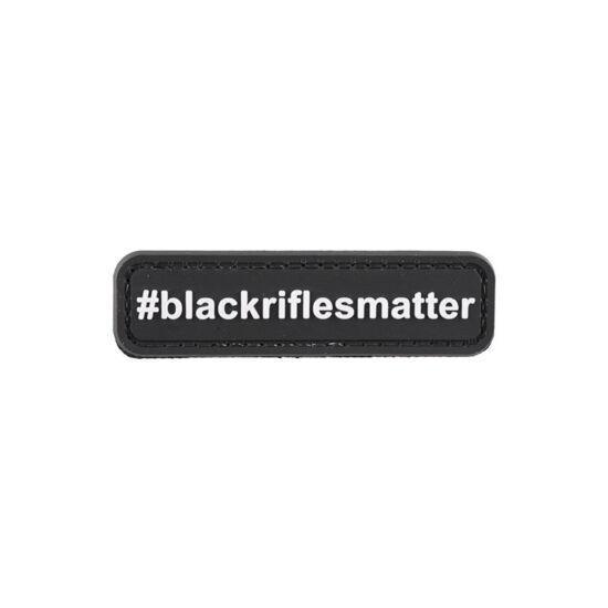 Black rifles matter, felvarró
