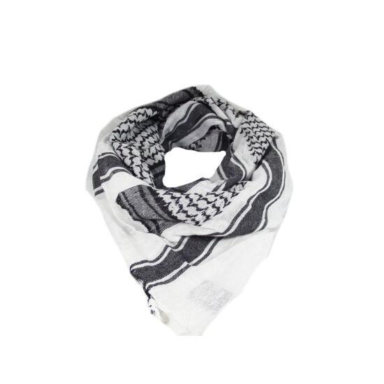 Miltec sál-Shemagh, fekete-fehér
