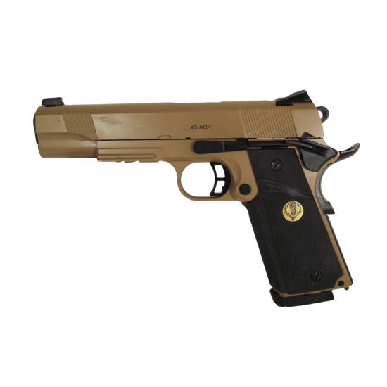 KJW Spartan STS-7 1911 Tan GBB airsoft pisztoly