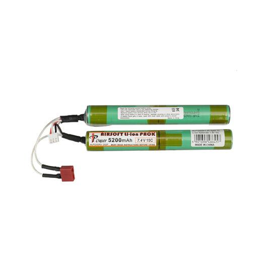 IPower airsoft akkumulátor, Li-Ion, 5200 mAh, 7,4V 2 modulos