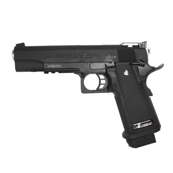 Hi-Capa 5.1, Black, full metal airsoft pisztoly (GGB)